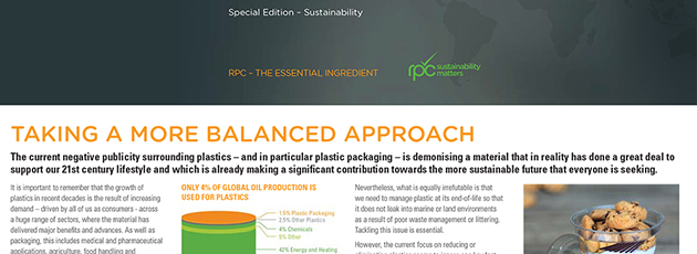 A more balanced approach to the role of plastic