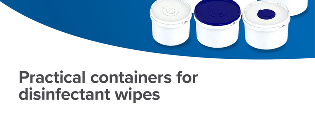 Practical pail for disinfectant wipes
